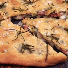 Filled Focaccia with Ham and Melted Fontina