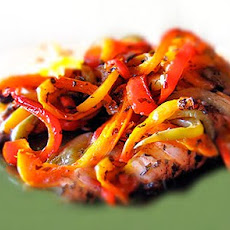 Mediterranean Chicken Recipe with Balsamic Vinegar Roasted Peppers
