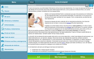 Screenshot of Para tu salud
