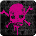 Pink Skull Go Launcher Theme icon