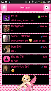 GO SMS - Pink Heart Fairy - screenshot
