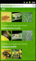 Screenshot of Schädlinge Schweiz