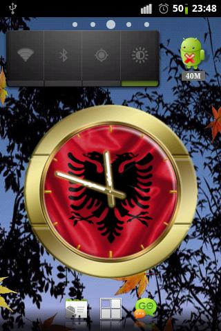 Albania flag clocks