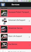 Screenshot of Lifeline Ambulance