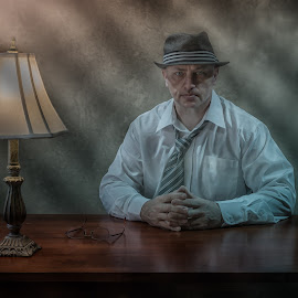The Detective by Victor Sinden - People Portraits of Men