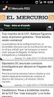 Screenshot of Lector de RSS - El Mercurio