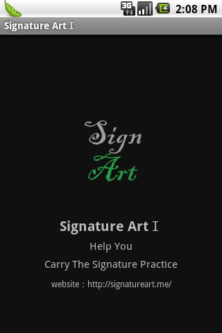 My Artistic SignatureⅠ