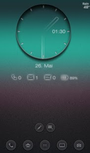 Transparent Clock UCCW skin - screenshot