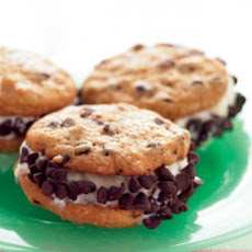 Mini Chocolate Chip Ice Cream Sandwiches