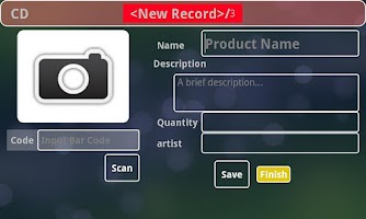 Screenshot of Bar Code Inventory Pro