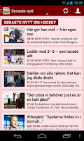 Screenshot of Sportbladet Hockey