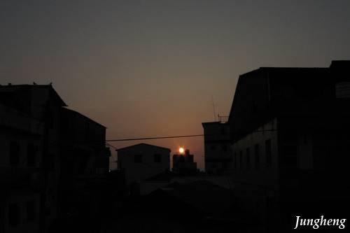 后里車站的夕陽