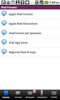Screenshot of iPad Forums