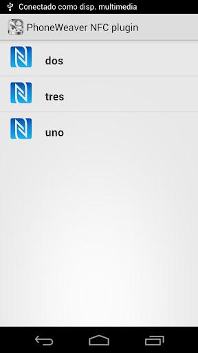 PhoneWeaver NFC plugin