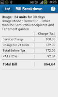 Screenshot of Lanka Water Bill