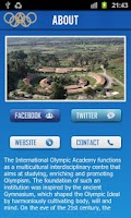 Screenshot of International Olympic Academy