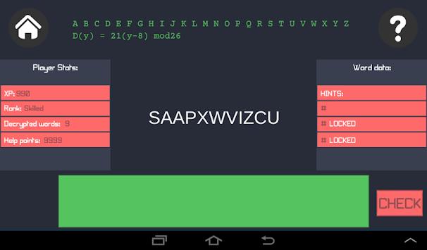 Decrypto apk screenshot