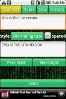 Screenshot of Cool Texter & Fonts FREE