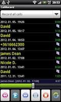 Screenshot of Call Record