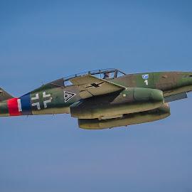 Luftwaffe Messerschmitt Me 262 by Ron Meyers - Transportation Airplanes