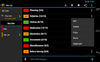 Screenshot of Trip Planner