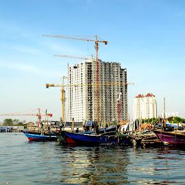 fishing port by Monang Naipospos - Landscapes Travel ( port, ship, boats, pelabuhan )