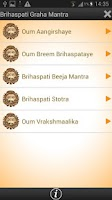 Screenshot of Brihaspati Graha Mantra