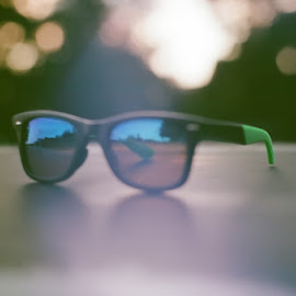 sunglasses by Josh Pingel - Artistic Objects Clothing & Accessories ( canon, film, photograph, park, slr, fun, bokeh, sunglasses, photo, photography, amazing, sunset, photographer, summer )