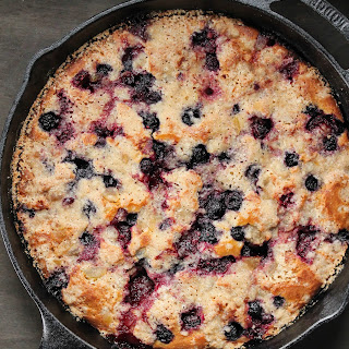 MIxed berry and ginger crumb cast iron cake