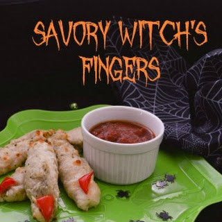 Savory Breadstick Witch's Fingers