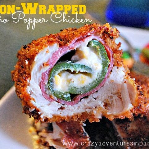 Bacon-Wrapped Jalapeño Popper Chicken