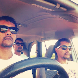 Drive with my best mates  by Brett Smith - People Portraits of Men