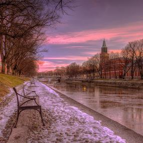 Morning has broken by Bojan Bilas - City,  Street & Park  City Parks ( park, finland, turku, morning, city,  )