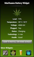 Screenshot of Marijuana Leaf HD Battery