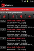 Screenshot of GigMeUp by Metalgigs