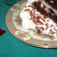 Warm Chocolate Cake with Whipped Cream