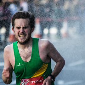 Shower by Martynas Virzintas - Sports & Fitness Running ( sports, london marathon, sports portrait, people, running )