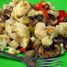Roasted Cauliflower With Vegies