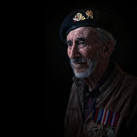 Today is the 70th Anniversary of D-Day. In my busy life of Dad and Photographer I may have only given this passing interest before we started on this project of shooting veterans. Having now spent some time with these ordinary extraordinary men and had the reality of events brought home to me like no book or documentary could. I humbly say thank you to all who served. by Glynn Lavender - People Portraits of Men ( portraiture, face, wwii, portraits, portrait )