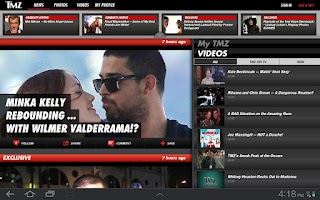 Screenshot of TMZ for Tablets