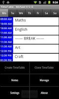 Screenshot of Time Table Lite