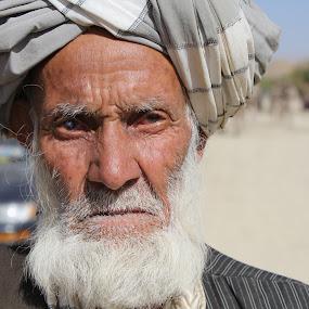 Afghan Elder by Chuck Holton - People Portraits of Men ( old, afghanistan, tribal, war, man )