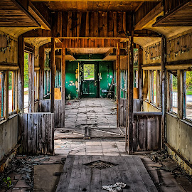 Prairie Du Chien Railcar by Ron Meyers - Transportation Trains