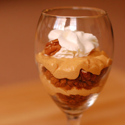 Pumpkin Pecan Cheesecake Parfaits