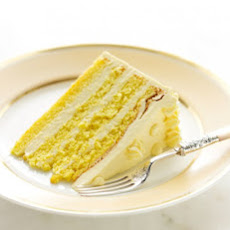 Genoise with Passion Fruit Swiss Meringue Buttercream