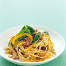 Linguine with Turkey Sausage and Peppers