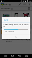 Screenshot of Web2App - Hybrid App Maker