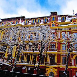 Kiev, Ukraine by Tyrell Heaton - Buildings & Architecture Office Buildings & Hotels ( ukraine, kiev, architecture )