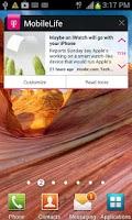 Screenshot of MobileLife Widget for Phones