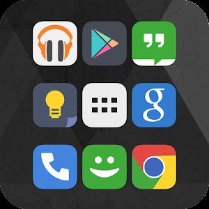 Cover art Flat iOS 7 Go Apex Nova Theme